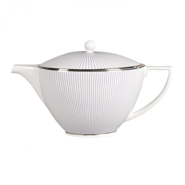 Blue Pin Stripe Teapot