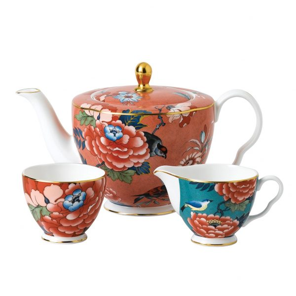 Paeonia Blush 3-Piece Tea Set