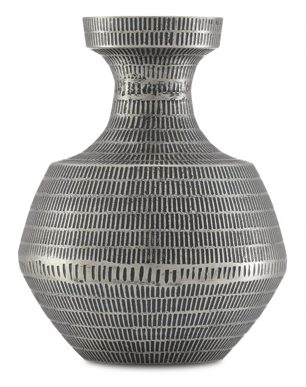 Dekha Silver Vase in Various Sizes by Currey & Company